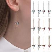 Moderne Lange Ohrringe mit Strass und Vogelanhängern