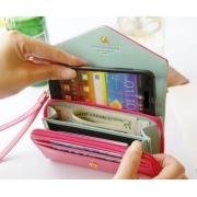 Elegant niedliche Damen Geldbörse Geldbeutel kleine Handtasche - Multifunktion - Halter für Samsung S2/S3, iPhone 5/4/4s usw.