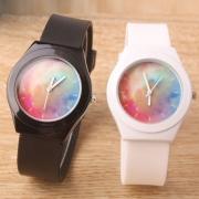 Mode Silikon-Armband Leuchtende Armbanduhr