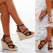 Elegante Sandalette mit Keilabsatz