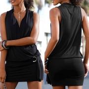 Damen Longshirt, Minikleid mit Oberteil in Wickeloptik