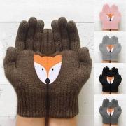 Strickhandschuhe Handschuhe mit Fox-Motive