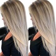 Ausverkauf Perücke mit Farbverlauf und Glatten Langen Haaren