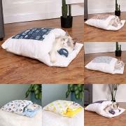 Modern Bedruckter zu Öffnender Schlafsack für Haustiere