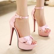 Fashion Super Stiletto High-heeled Peep-toe Strap Platform Sandal