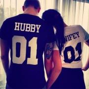 Ehepaar T-Shirt - Couple T-Shirt aus Baumwollmischung