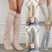 Fashion gestrickte Overknee-Socken