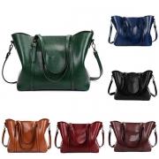 Retro Style Solid Color Shoulder Messenger Bag