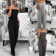 Sexy stilvolle Off Shoulder Jumpsuit mit Tunnelzug