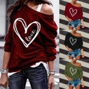 Sweatshirt mit  großem Herzprint auf der Vorderseite