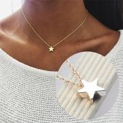 Stylische elegante Halskette aus Legierung, mit Pentagramm-Anhänger
