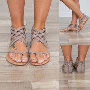 Fashion Sandale mit trendigen Riemchen in geflochter Optik