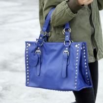 Kreative klassische Umhängetasche Handtasche mit Nieten