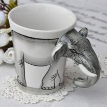 Neuheit Handbemalte Elefant Kaffeetasse