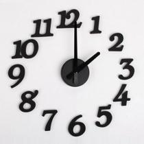 DIY Design Art Foam Sponge Digit Wall Clock