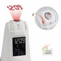 LED Backlight Sound Control Sensor Talking Projection Alarm Clock with