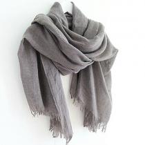 Einfacher Schal vom europäischen Stil von reiner Farben mit Fransen