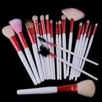 Pinsel-Set mit 20 Stücken für professionelle Kosmetik und Make-up mit rosa Tasche