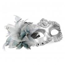 Karneval-Maske vom venezianischen Stil mit silbrigen Augen fur Masquerade und Karneval