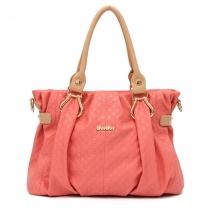 Elegante Handtasche Schultertasche von Massivbonbonfarben mit geprägten Anhängern