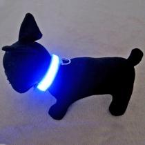 Haustier - Blauer blinkender sicherer Kragen