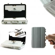 Heiße Mini-Aktentasche Karte Fall Münzen-Kasten Aluminium-Kreditkarteninhaber