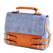 Klassische Handtasche Schultertasche von vermischter Farbe mit perforiertem Blumendruck