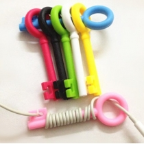 Cute Cable Tie 5-psc Key Cord Organizer Earphone Wrap Winder(Color randomly)