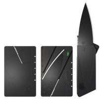Kreditkarte sortierte faltende Messer (Schwarze Klinge)