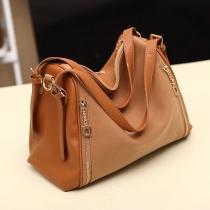 Handtasche und Schultertasche vom europäischen Stil mit Reißverschluss und reiner Farben
