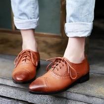 Britische perforierte Schnürsenkel zubindende Spitzschuhe Oxford-Schuhe
