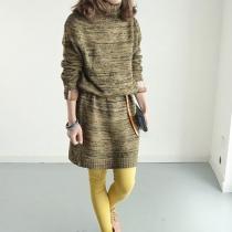 Warmer Pullover lange Strickjacke fur Damen von vermischter Farbe