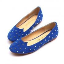 Coole schicke flache Schuhe mit KatzenDruck und verzierten Nieten