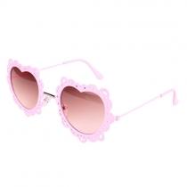 UV-Sonnenbrille-Schatten mit metallischem Ausschnitt und Liebe-Herzform