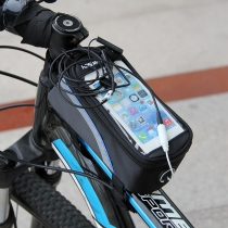 Large Size Bicycle Bike Front Frame Tube PVC Storage Bag Pouch For 4.8inch Cell Phone Android Phone and Others