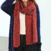 Warmer neuester süßer netter Schal mit vermischter Farbe