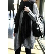 Warmer eleganter offener gestrickter Schal von reiner Farbe aus Mohair fur Frauen