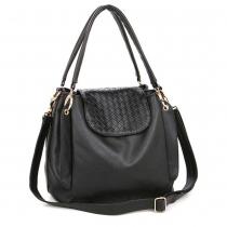 Elegante große Handtasche Schultertasche von reiner Farbe mit Klappe von Diamant-Kontrolle