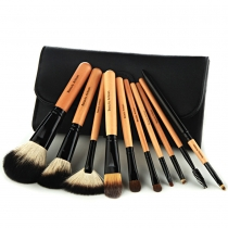 10 Stk. Kosmetik Pinsel-Werkzeug-Satz mit schwarzemBeutel
