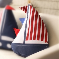 American Flag Print Sailboat Throw Pillow Home Decor