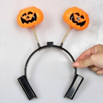 LED Flashing Pumpkin Headband Halloween Decorations