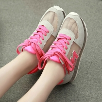 Casual Breathable Gauze Lace-up Sneakers