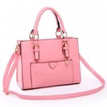 Fashion Candy Color Buckle Strap Handbag Cross Body Bag