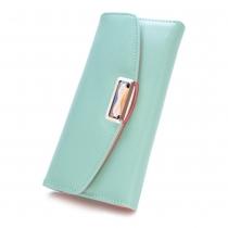 Fashion Cross Pattern Rhinestone Women Long Wallet