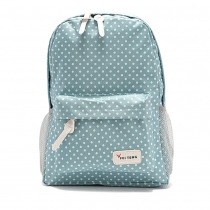 Fashion Polka Dots Canvas Backpack School Bag