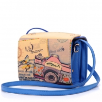 Retro Camera Graffiti Pattern Shoulder Messenger Bag
