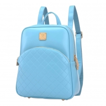 Retro Grid Solid Color Multifunction Backpack