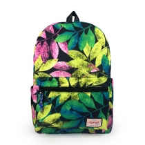 Bohemian Style Leaves Floral Print Backpack