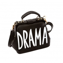 Retro Letters Print Handbag Shoulder Messenger Bag