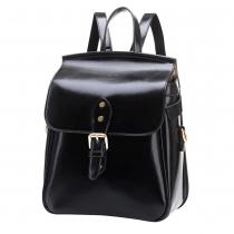 Retro Solid Color Multifunction Backpack School Bag